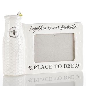 Other - Ceramic Bee Vase w/ Photo Frame